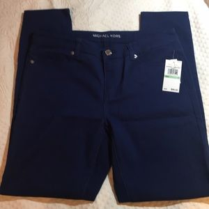 Michael Kors Skinny Jeans Royal Blue Sz 8 NWT!!